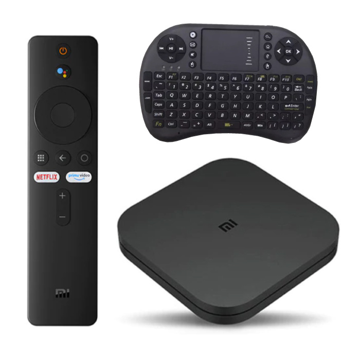 Mi TV Box S Media Player mit Tastatur - Chromecast / Google-Assistent Android Kodi Netflix - 2 GB RAM - 8 GB Speicher