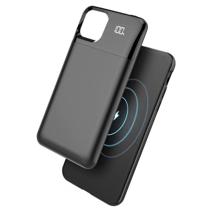 iPhone 11 Pro Max Slim Powercase with LED Display - 5500mAh Powerbank Case Charger Battery Cover Case Black