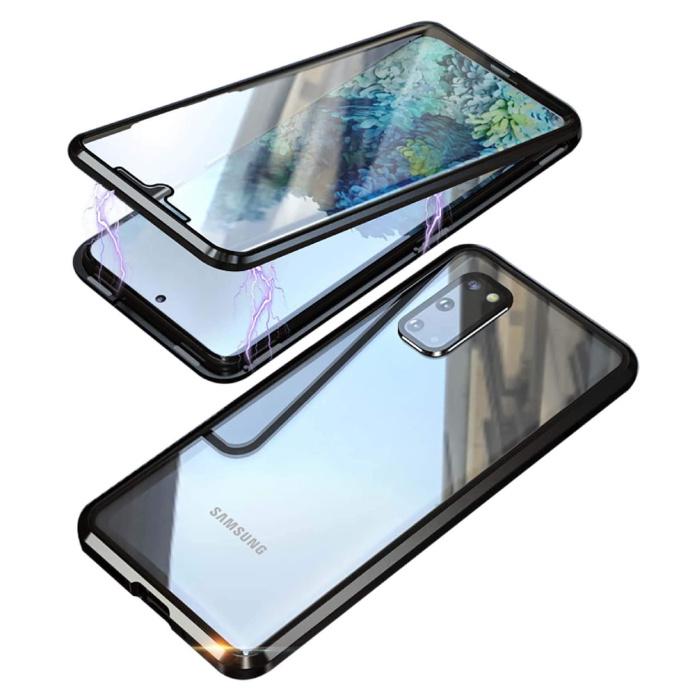 Samsung Galaxy S20 Ultra Magnetisch 360° Hoesje met Tempered Glass - Full Body Cover Hoesje + Screenprotector Zwart