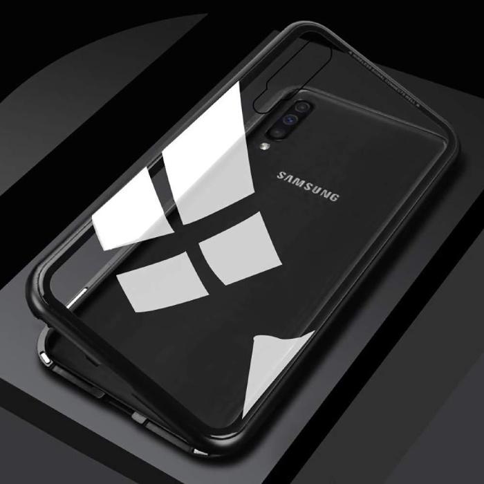 Stuff Certified® Samsung Galaxy A20 Magnetisch 360° Hoesje met Tempered Glass - Full Body Cover Hoesje + Screenprotector Zwart