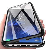 Stuff Certified® Samsung Galaxy A30 Magnetisch 360° Hoesje met Tempered Glass - Full Body Cover Hoesje + Screenprotector Zwart