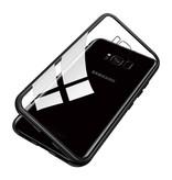Stuff Certified® Samsung Galaxy A8 Plus Magnetisch 360° Hoesje met Tempered Glass - Full Body Cover Hoesje + Screenprotector Zwart