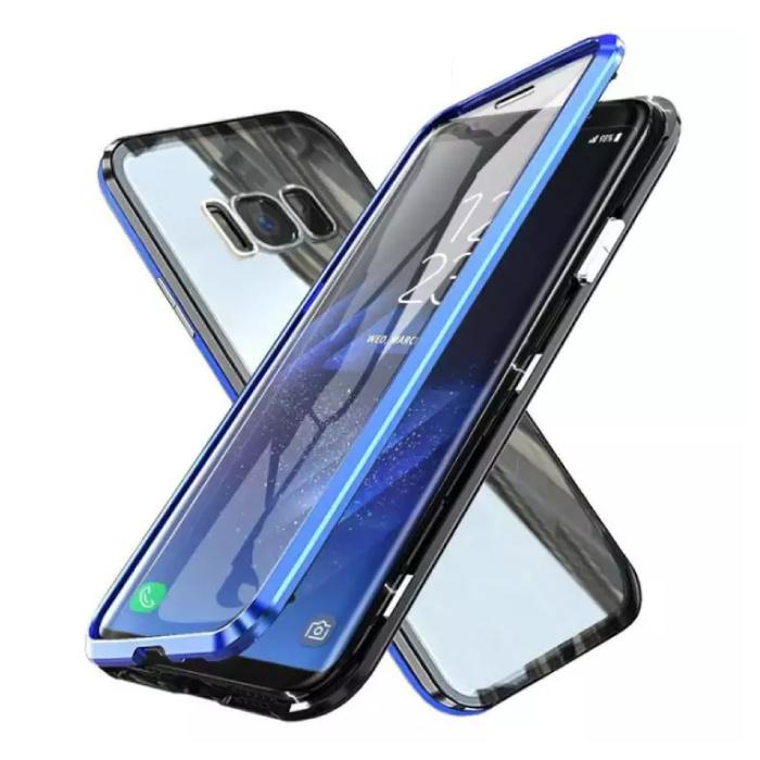 Coque Magnétique 360 ° Samsung Galaxy S8 avec Verre Trempé - Coque Intégrale + Protecteur d'écran Bleu