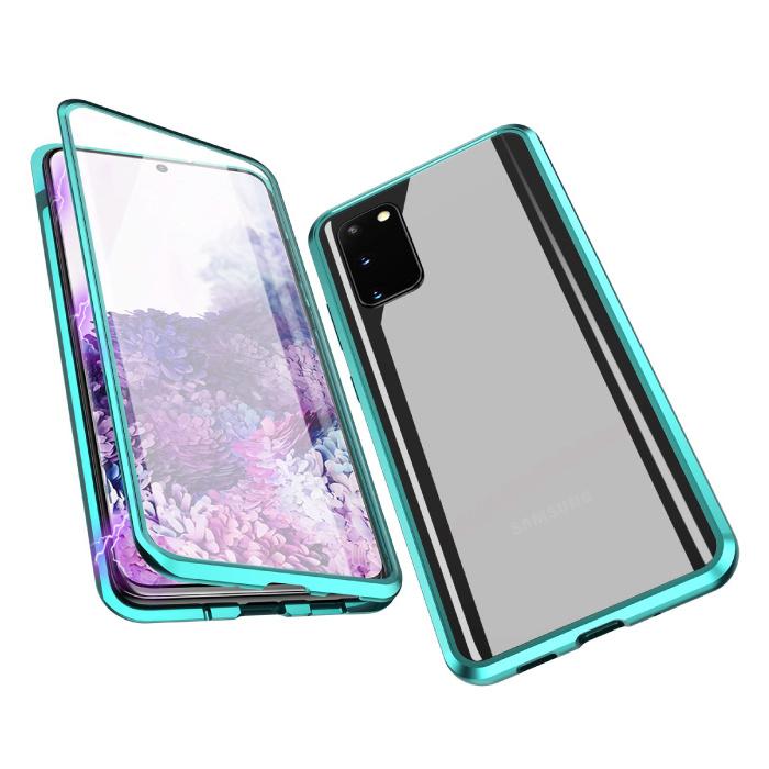 Samsung Galaxy S20 Magnetisch 360° Hoesje met Tempered Glass - Full Body Cover Hoesje + Screenprotector Groen
