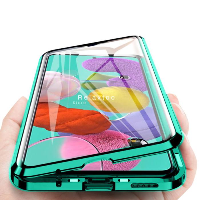 Coque Magnétique 360 ° Samsung Galaxy S9 avec Verre Trempé - Coque Intégrale + Protecteur d'Écran Vert