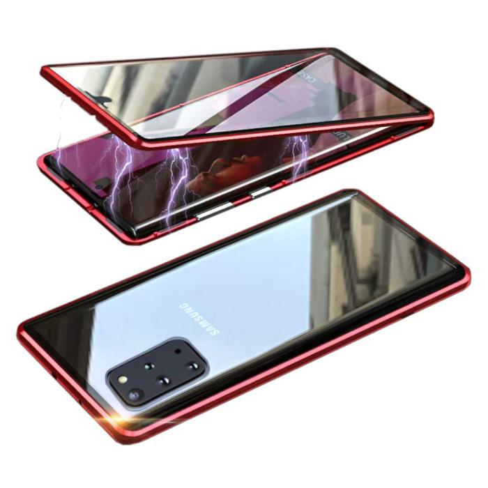 Coque Magnétique 360 ° Samsung Galaxy S20 Plus avec Verre Trempé - Coque Intégrale + Protecteur d'écran Rouge