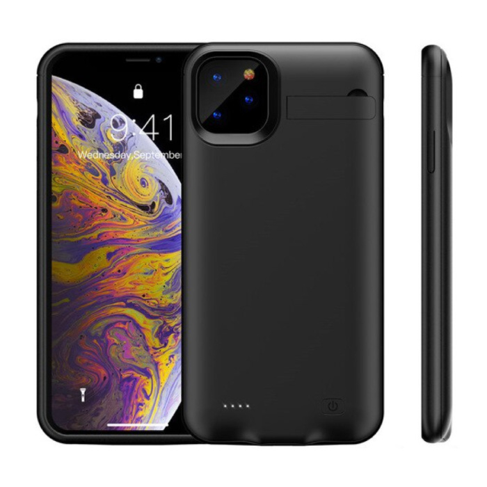 iPhone 11 Powercase 6200mAh Powerbank Case Chargeur Housse de protection de la batterie Noir