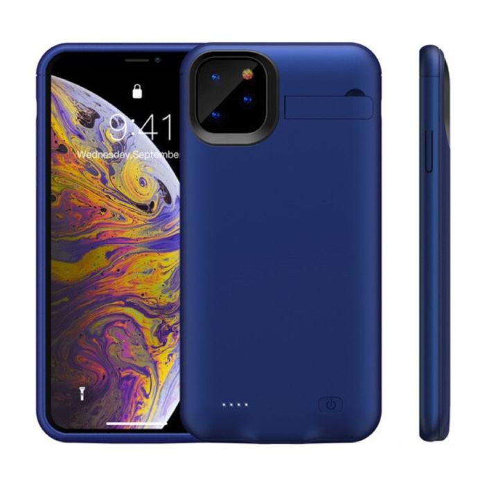 iPhone 11 Powercase 6200mAh Powerbank Hoesje Oplader Batterij Cover Case Blauw
