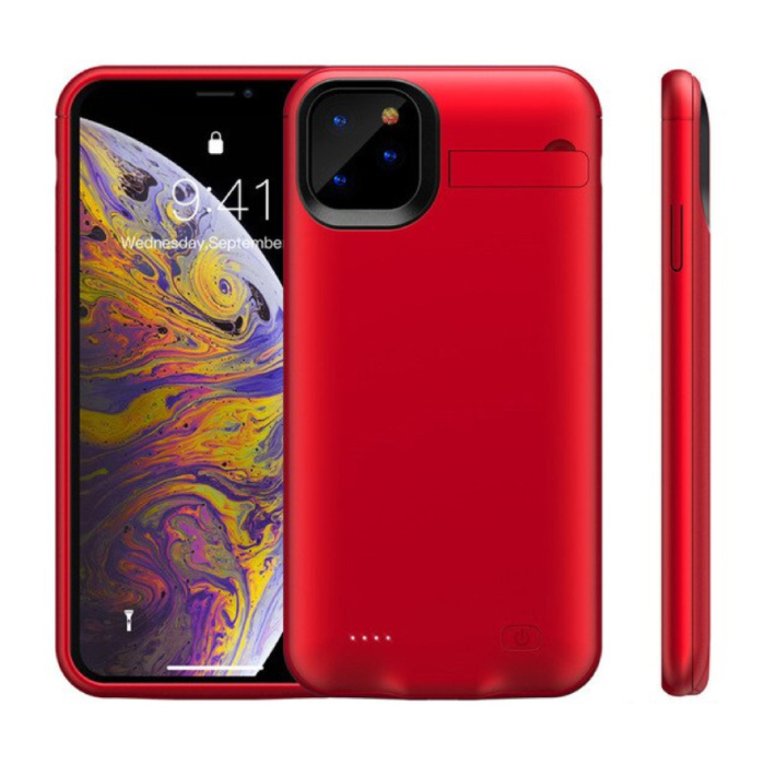 iPhone 11 Pro Powercase 6200mAh Powerbank Case Chargeur Housse de protection de la batterie Rouge