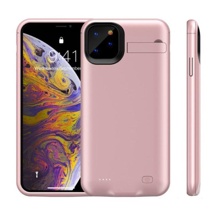 iPhone 11 Powercase 6200mAh Powerbank Hoesje Oplader Batterij Cover Case Roze