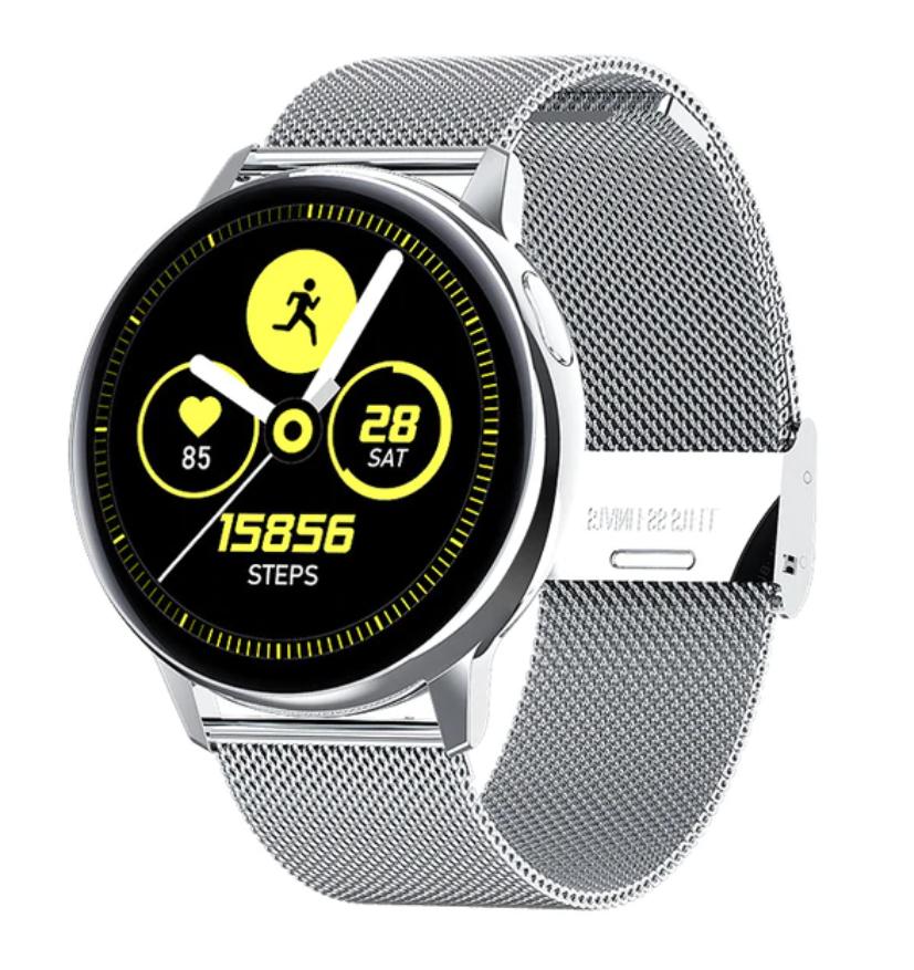 Sport Smartwatch Smartband Smartphone Fitness Tracker Activité Montre iOS / Android Argent Acier
