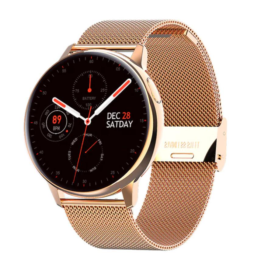 Sport Smartwatch Smartband Smartphone Fitness Tracker d'activité montre iOS / Android or acier