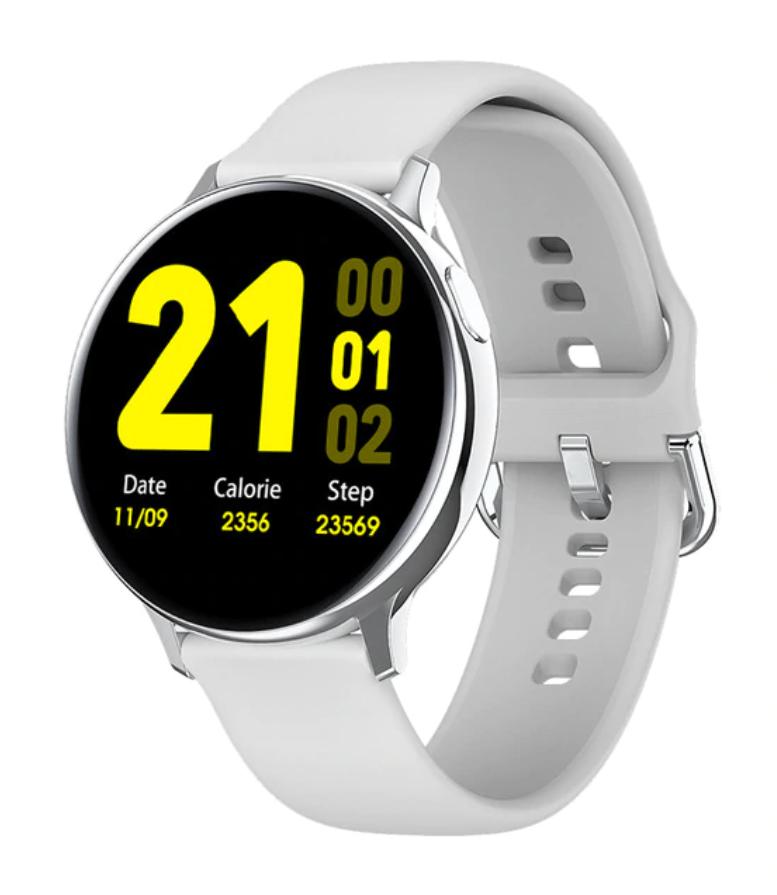 Sport Smartwatch Smartband Smartphone Fitness Tracker d'activité montre iOS / Android blanc