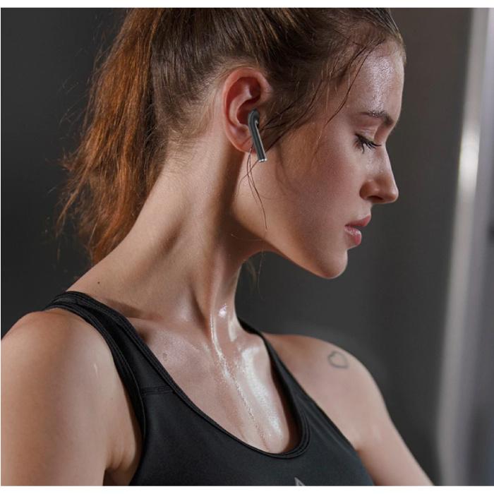Kusdo Draadloze Bluetooth Oortjes - True Touch Control Oordopjes TWS Earphones - Qi Draadloos Opladen Oortelefoon - Zilver