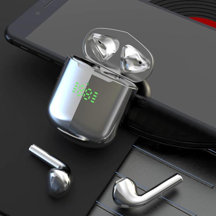 Écouteurs Bluetooth sans fil - Écouteurs True Touch Control Écouteurs TWS - Chargement sans fil Qi - Argent