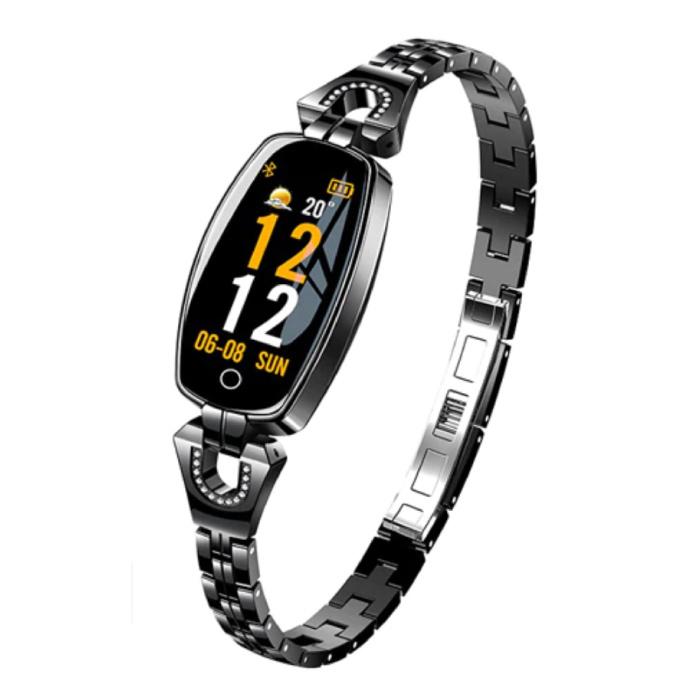 Sport Smartband voor Vrouwen - Smartwatch Smartphone Fitness Activity Tracker Horloge iOS / Android Zwart