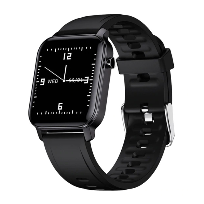 Fitness Activity Tracker Smartwatch Sport Smartband Smartphone Horloge iOS / Android Zwart