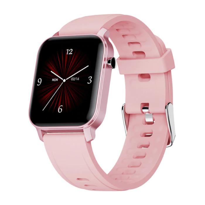 Stuff Certified® Fitness Activity Tracker Smartwatch Sport Smartband Smartphone Horloge iOS / Android Roze