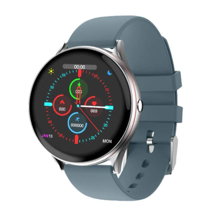 Rote Linie Smartwatch Smartband Smartphone Fitness Sport Aktivität Tracker Uhr IPS iOS Android iPhone Samsung Huawei Blue