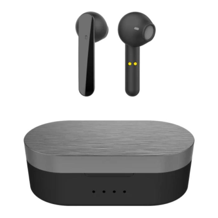 T12 Draadloze Oortjes - Smart Touch Control TWS Oordopjes Bluetooth 5.0  Wireless Buds Oortelefoon Zwart
