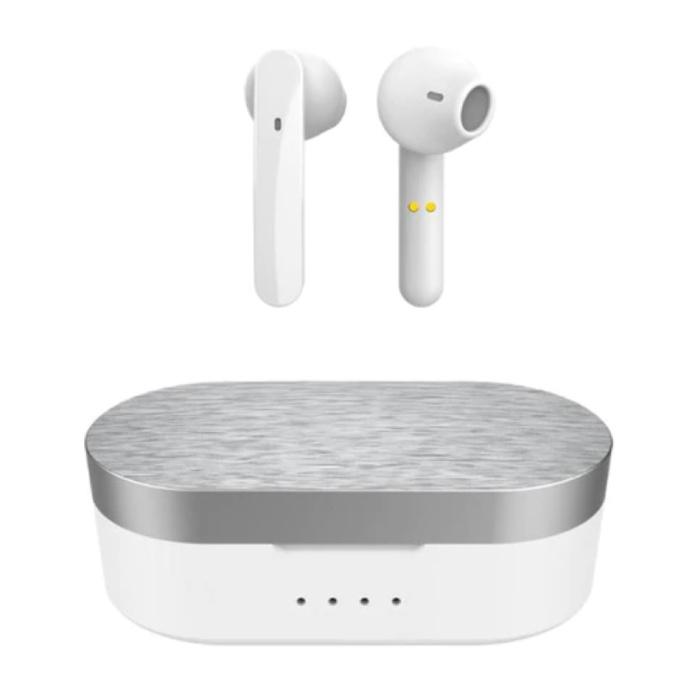 T12 Draadloze Oortjes - Smart Touch Control TWS Oordopjes Bluetooth 5.0  Wireless Buds Oortelefoon Wit