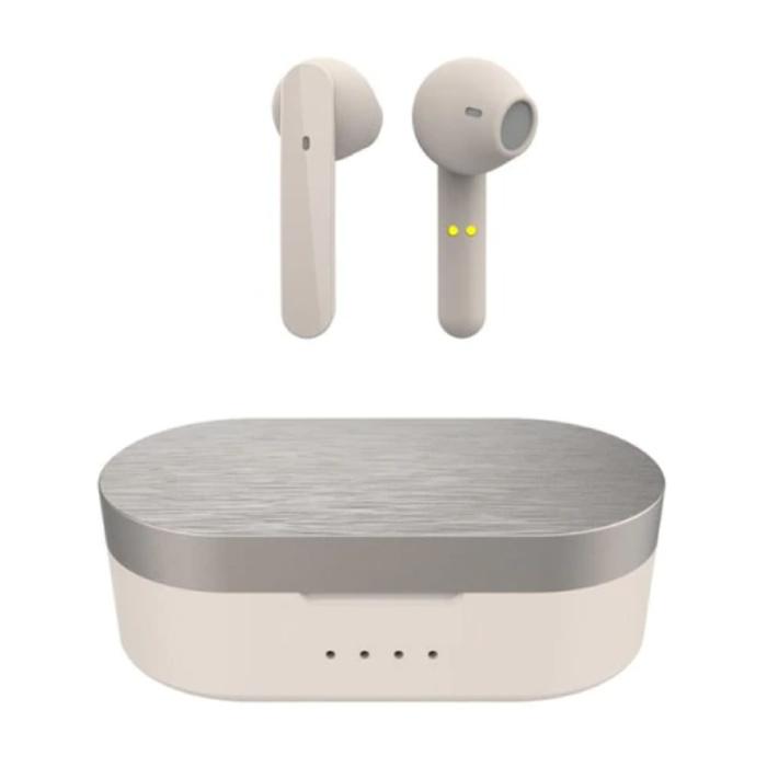 T12-Ohrhörer - Smart Touch Control TWS-Ohrhörer Bluetooth 5.0 Wireless Buds-Kopfhörer Beige