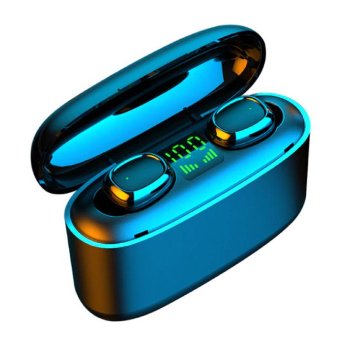 Écouteurs sans fil TWS avec batterie externe 3500mAh - Contrôle tactile intelligent Bluetooth 5.0 Air Pods sans fil Écouteurs Écouteurs Noir