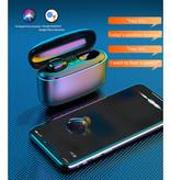 Stuff Certified® TWS Draadloze Oortjes met Powerbank 3500mAh - Smart Touch Control Bluetooth 5.0 Ear Wireless Buds Earphones Earbuds Oortelefoon Zwart