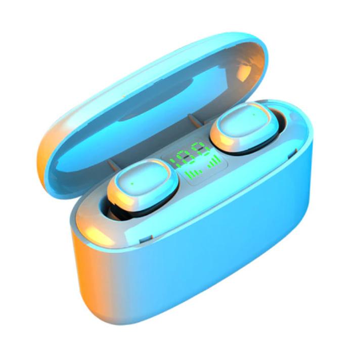 Écouteurs sans fil TWS avec batterie externe 3500mAh - Contrôle tactile intelligent Bluetooth 5.0 Air Pods sans fil Écouteurs Écouteurs Blanc