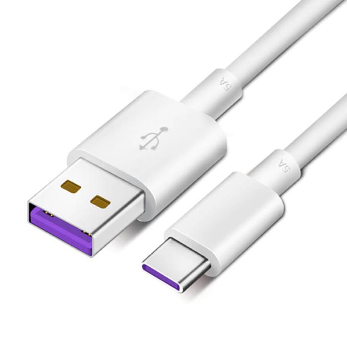 Lot de 2 câbles de charge USB-C 5A - Câble de données pour chargeur de charge rapide Android 1 mètre noir