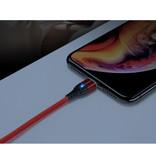 FLOVEME Câble de charge magnétique micro-USB 2 mètres - Câble de données de chargeur en nylon tressé Android rouge - copie