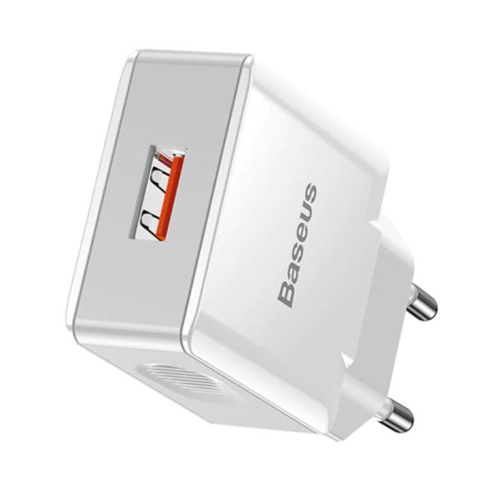Chargeur de prise USB à charge rapide - Chargeur mural Quick Charge 3.0 Chargeur mural Adaptateur de chargeur secteur blanc