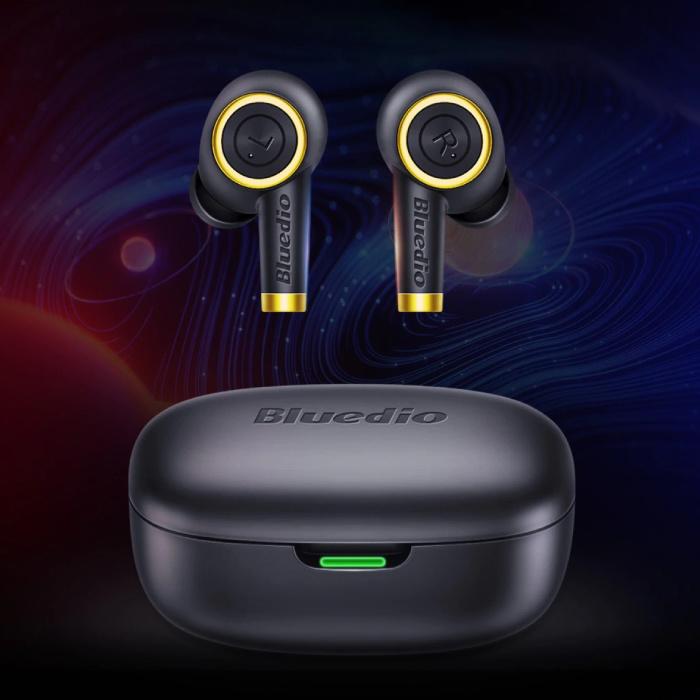 Écouteurs sans fil à particules TWS contrôle du bouton Bluetooth 5.0 écouteurs intra-auriculaires sans fil écouteurs écouteurs noir