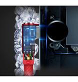 Nohon Câble de charge iPhone Lightning 90 ° - 1 mètre - Câble de données pour chargeur en nylon tressé Android Blanc