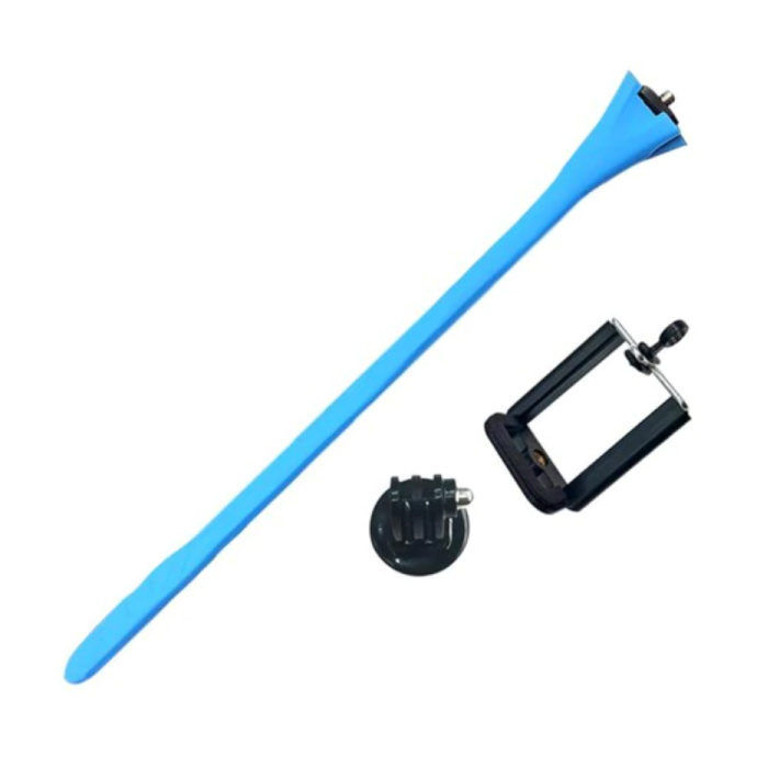 Selfie Stick Flexible - Smartphone Vlog Tripod Selfie Stick Bleu