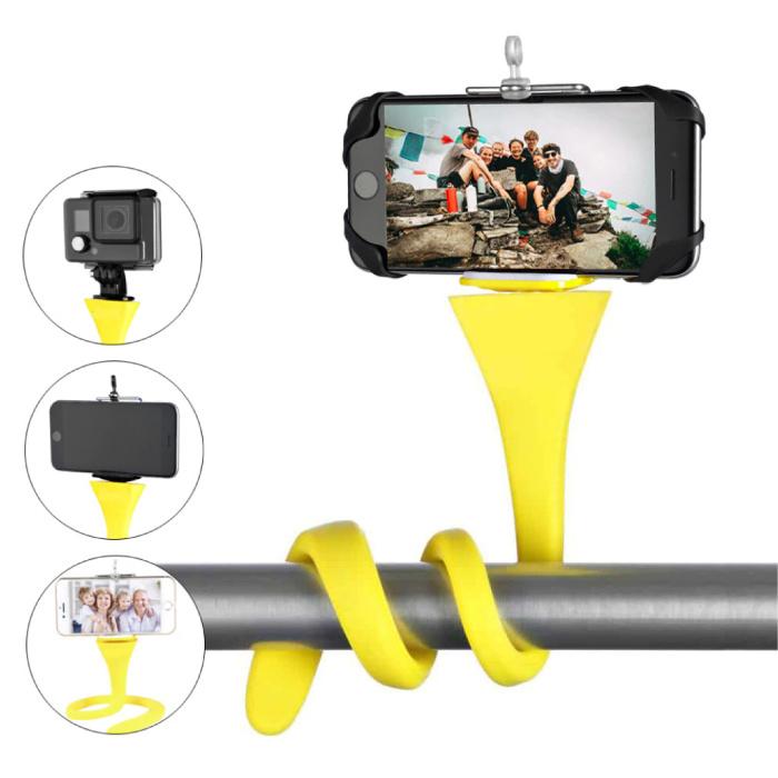 Anordsem Flexibele Selfie Stick - Smartphone Vlog Statief Selfiestick Roze