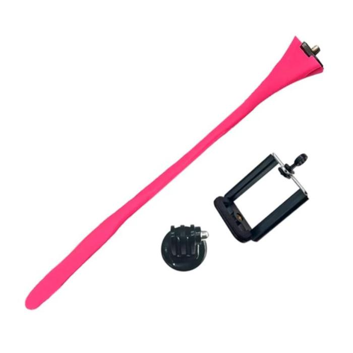 Flexibele Selfie Stick - Smartphone Vlog Statief Selfiestick Roze