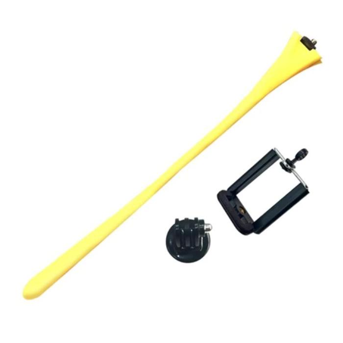 Flexible Selfie Stick - Smartphone Vlog Tripod Selfie Stick Yellow