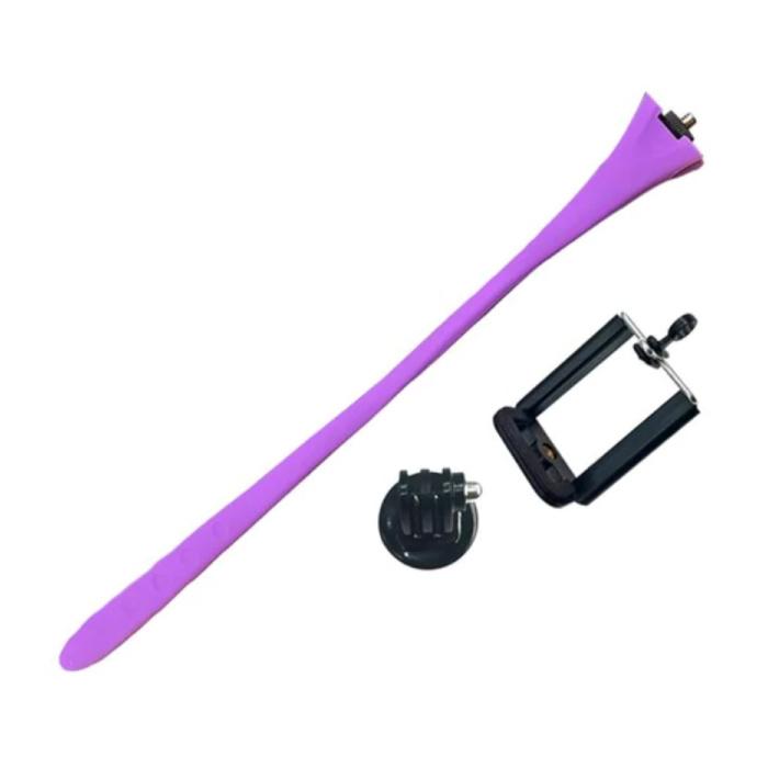 Flexible Selfie Stick - Smartphone Vlog Tripod Selfie Stick Purple