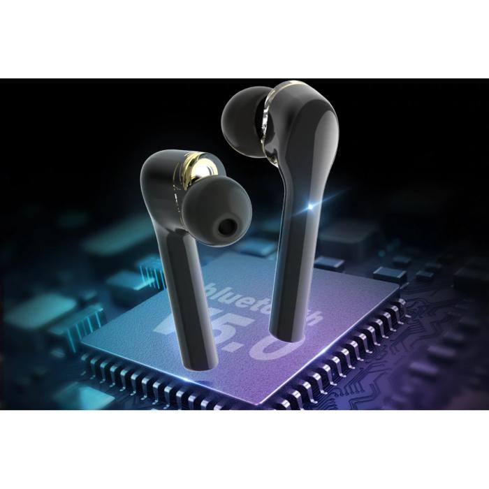 Blitzwolf BW-FYE8 Draadloze Oordopjes - TWS Oortjes True Touch Control Oortjes Oordopjes Bluetooth 5.0 Wireless Buds Earphones Oortelefoon Zwart