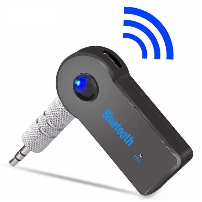Bluetooth 5.0 Empfänger Sender AUX-Buchse 3,5 mm - Drahtloser Adapter Audioempfänger Stream Freisprechen + Mikrofon