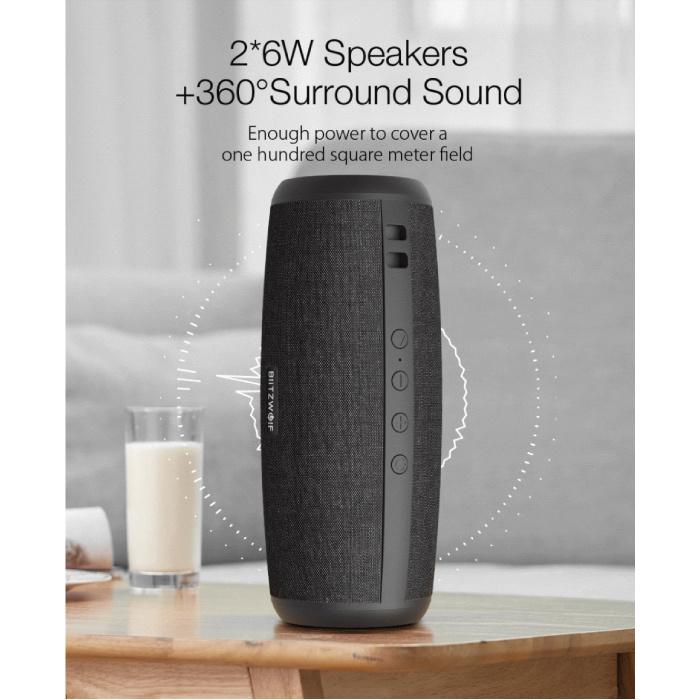 Blitzwolf BW-WA1 Draadloze Speaker - Luidspreker Wireless Bluetooth 5.0 Soundbar Box Zwart