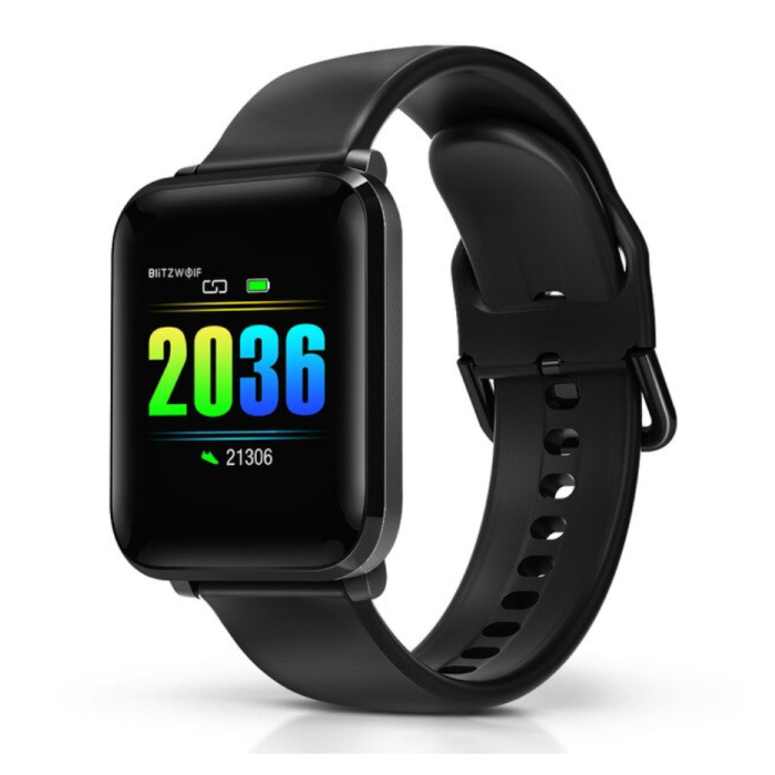 BW-HL1 Smartwatch Smartband Smartphone Fitness Sport Activity Tracker Horloge IPS iOS Android iPhone Samsung Huawei Zwart