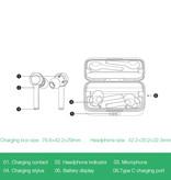 Blitzwolf BW-FYE6 Draadloze Oordopjes - TWS Sport Oortjes True Touch Control Oordopjes Bluetooth 5.0 Wireless Buds Earphones Oortelefoon Zwart