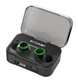 Blitzwolf BW-FYE3 Draadloze Oordopjes - TWS Sport Oortjes True Touch Control Oordopjes Bluetooth 5.0 Wireless Buds Earphones Oortelefoon Zwart