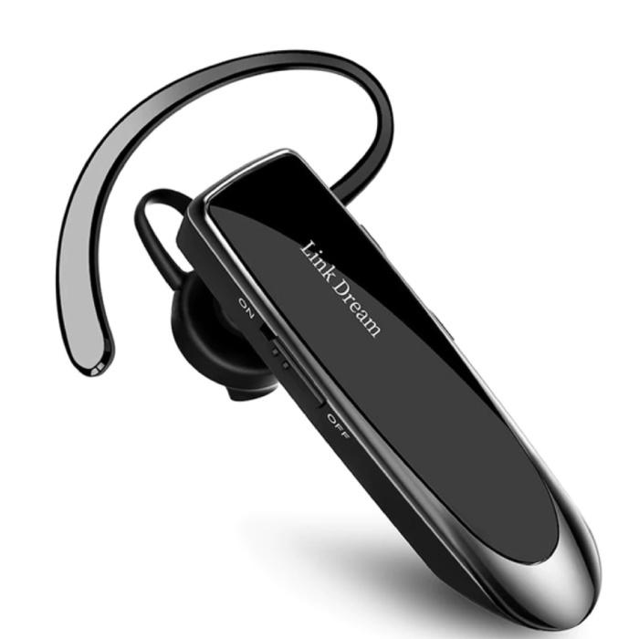 Draadloze Business Headset - Oordopje One Click Control TWS Oortje Bluetooth 5.0 Wireless Bud Headphone Oortelefoon Zwart