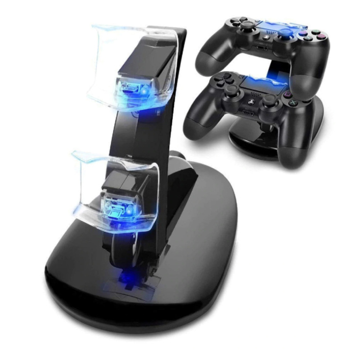 Charging Station for PlayStation 4 Charging Dock Station for Controller - Dual Charging Station Black