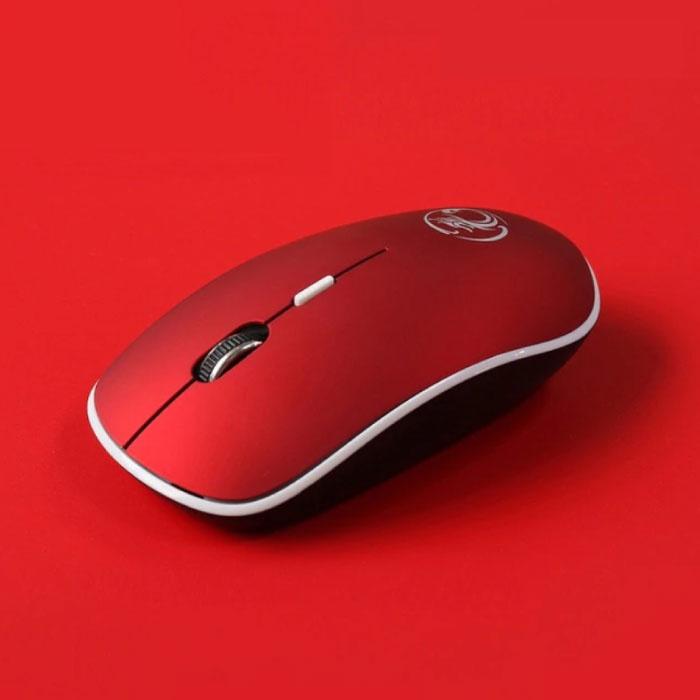 G-1600 Wireless Mouse geräuschlos - optisch - beidhändig und ergonomisch - rot