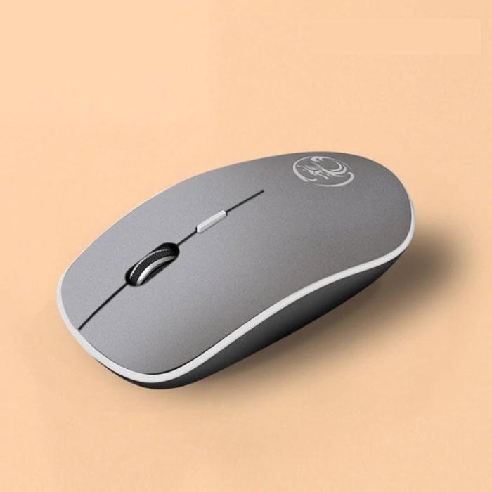 G-1600 Wireless Mouse geräuschlos - optisch - beidhändig und ergonomisch - grau