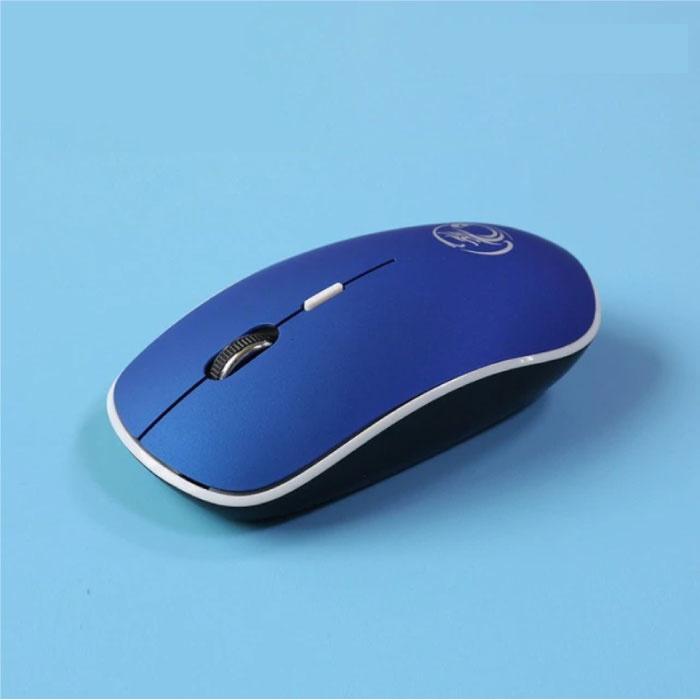 G-1600 Wireless Mouse geräuschlos - optisch - beidhändig und ergonomisch - blau